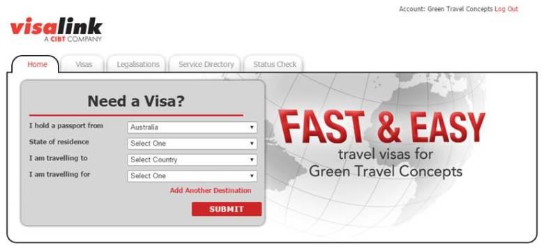 CIBT Visa Link
